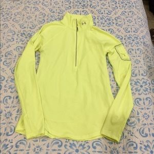Under Armour Neon Fitted Long Sleeve - Size Medium